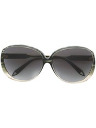Victoria Beckham Large Oval Sunglasses Green
