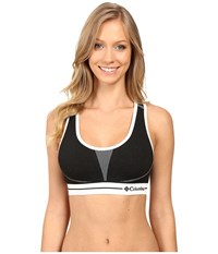 Columbia Seamless Racerback Black White Women's Bra