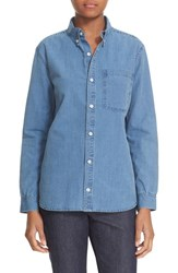 A.P.C. Women's 'Lynn' Cotton Chambray Shirt