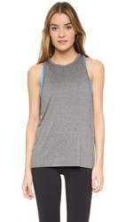 Live The Process Linear V Tank With Bra Grey Bluebell