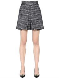 Dolce And Gabbana Wool Silk Houndstooth Shorts