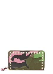 Valentino Psychedelic Camouflage Leather Wallet