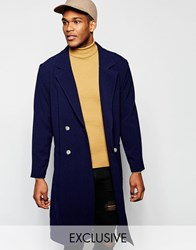 Reclaimed Vintage Duster Trench Coat Navy