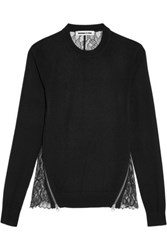 Mcq By Alexander Mcqueen Wool And Lace Top Black