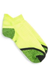 Men's Nike 'Elite' Cushioned No Show Tab Running Socks Volt Anthracite
