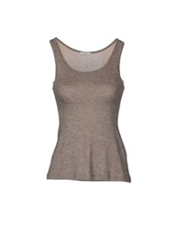Le Ragazze Di St. Barth Sleeveless Sweaters Khaki