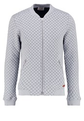 Knowledge Cotton Apparel Bomber Jacket Grey Melange Mottled Grey