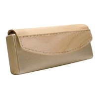 Sidney Molepo Canvas Leather And Wood Clutch White