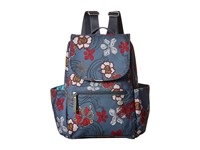 Haiku Roam Mini Backpack River Floral Print Backpack Bags Blue