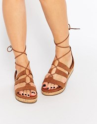Call It Spring Fromiri Black Lace Up Sandals Cognac