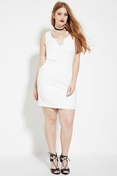Forever 21 Plus Size Crisscross Dress Ivory