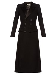 Saint Laurent Le Smoking Babydoll Wool Coat Black