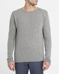 American Vintage Mottled Grey Round Neck Sweater