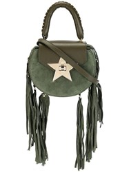 Salar Tassel Detail Crossbody Bag Green