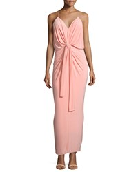 T Bags Sleeveless Tie Front Maxi Dress Blush Pink