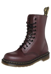 Dr. Martens Originals 1490 Eye Boot Laceup Boots Cherry Red Rouge Bordeaux