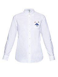 Visvim Long Sleeved Bird Embroidery Cotton Shirt