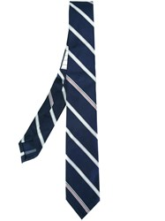 Thom Browne Woven Stripe Tie Blue