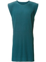 Homme Plisse Issey Miyake Pleated Sleeveless Pullover Green