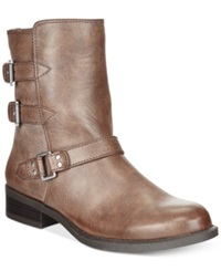 American Living Jaqueline Casual Buckle Booties A Macy's Exclusive Style Dark Brown