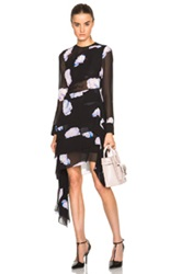 Josh Goot Georgette Layered Dress In Black Floral