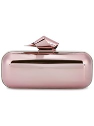 Jimmy Choo Cloud Tube Clutch Pink Purple