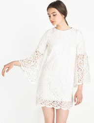 Pixie Market Chloe White Lace Bell Sleeve Dress By New Revival