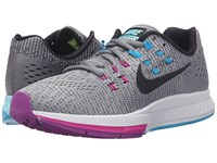 Nike Air Zoom Structure 19 Cool Grey Fuchsia Flash Copa Black Women's Running Shoes Gray
