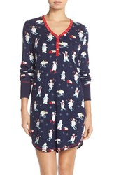 Women's Pj Salvage Thermal Knit Sleep Shirt Navy Bears