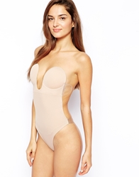 Fashion Forms U Plunge Backless Strapless Bodysuit Nude