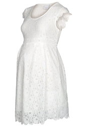 Mama Licious Mlcille Summer Dress Whitecap Gray Off White