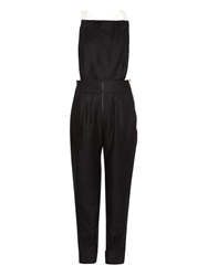 Band Of Outsiders Bi Colour Linen Dungarees