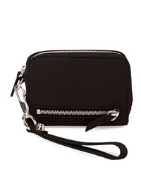 Alexander Wang Fumo Large Zip Around Wristlet Wallet Black