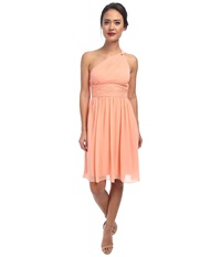 Donna Morgan Rhea One Shoulder Dress Peach Fuzz Women's Dress Yellow