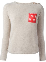Chinti And Parker Patch Pocket Jumper Nude And Neutrals