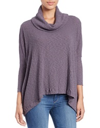 Free People World Traveler Cowl Neck Pullover Purple