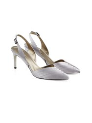 Jacques Vert Pleated Point Slingback Shoe Grey