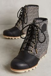 Anthropologie Sorel Elsie Wedge Boots Black Motif