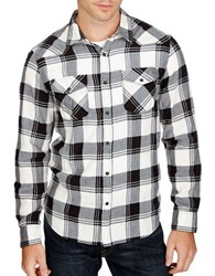 Lucky Brand Plaid Sportshirt White Black