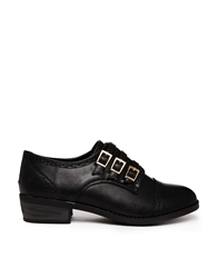 Truffle Collection Truffle Buckle Flat Shoes Black