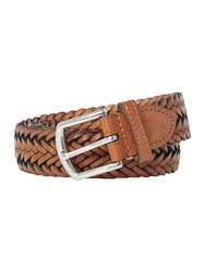 Polo Ralph Lauren Leather Classic Braided Belt Tan