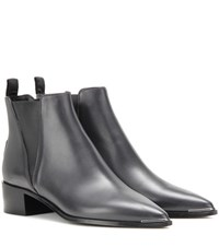 Acne Studios Jensen Leather Ankle Boots Grey