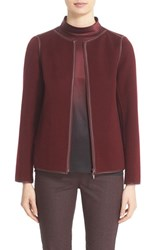 Lafayette 148 New York Women's 'Keaton' Faux Leather Trim Wool And Cashmere Jacket