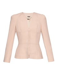 Alexander Mcqueen V Neck Twill Tailored Jacket