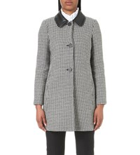 Claudie Pierlot Geo Wool Blend Coat Noir