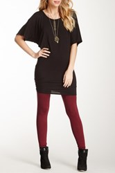 Loveappella Jersey Knit Tee Dress Black