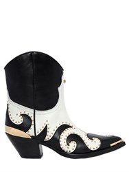 Fausto Puglisi 55Mm Studded Leather Cowboy Boots