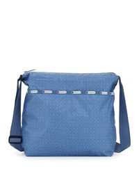 Le Sport Sac Lesportsac Cleo Denim Print Crossbody Bag Denim Pique