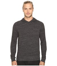 John Varvatos Long Sleeve Pullover Knit Hoodie W Chest Pocket And Flatlocked Seam Details K2761s3b Coal Men's Sweatshirt Gray