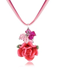 Dolci Gioie Rose Pendant W Lace Pink